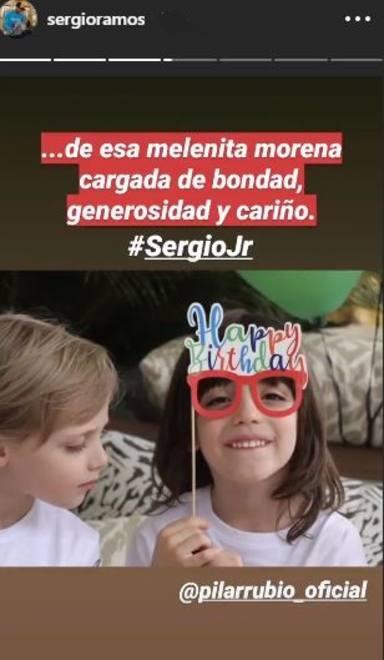 Sergio Jr junto a su hermano Marco celebrando su sexto cumpleaños