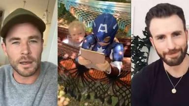La emoción de Bridger al recibir los mensajes de sus ídolos Chris Evans y Chris Hemsworth