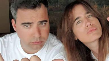 Isa Jiménez con su marido durante las vacaciones