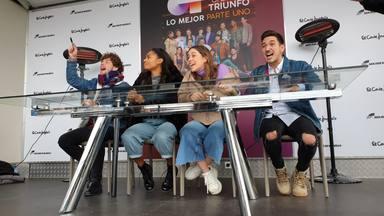 Así hemos vivido la primera firma de discos de 'OT 2020' con Nia, Eva, Bruno y Jesús