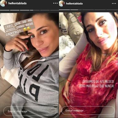La tripa posparto de Elena Tablada, sin filtros