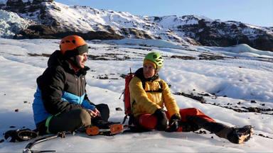 Willy Bárcenas con Jesús Calleja durante su viaje a Islandia