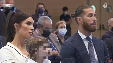 Pilar Rubio no se separa de Sergio Ramos en su dura y emotiva despedida del Real Madrid