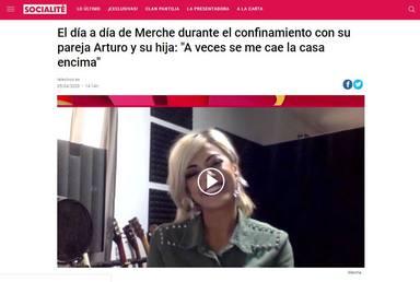 La entrevista de Merche en Socialité en la que se quedó en shock al ser preguntada por Arturo