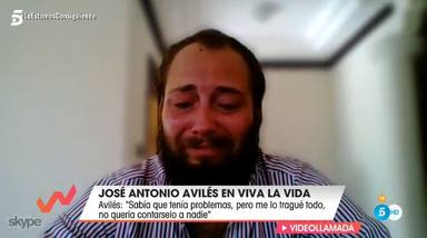 Avilés, entre lágrimas durante toda su entrevista en Viva la vida con Emma García