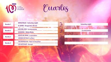 'Saturday night' y 'La macarena' pasan de fase en 'La canción del verano de todos los tiempos'