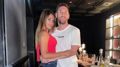 Leo Messi y Antonela Roccuzzo en un restaurante de París