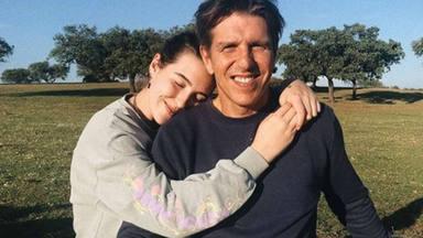 Alba Díaz y su padre, en pleno confinamiento