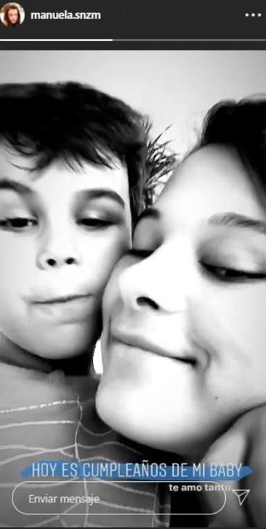 Manuela, la hija de Alejandro Sanz, felicita a su hermano Dylan por su cumpleaños