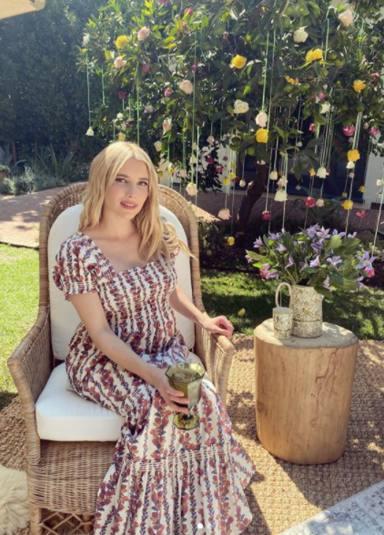 Enma Roberts embarazada de su primer hijo