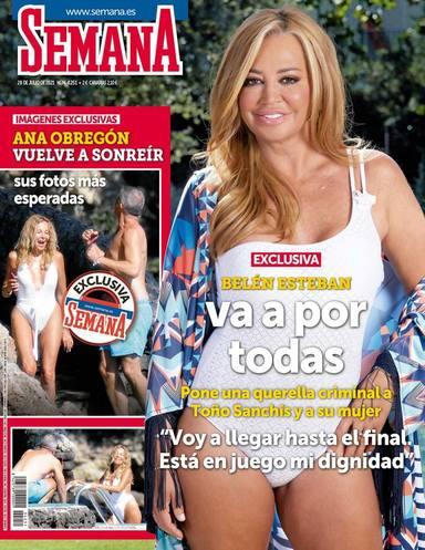 Ana Obregón comparte protagonismo con Belén Esteban en la portada de la revista Semana