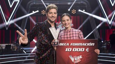 Irene Gil, ganadora de 'La Voz Kids' junto a David Bisbal con regalo final a su compañero Daniel