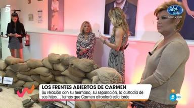 Emma García estalla contra Terelu y Carmen Borrego en Viva la vida