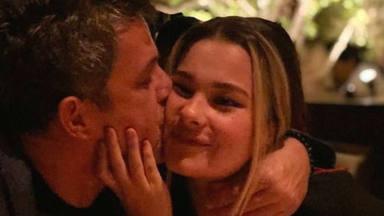 Alejandro Sanz y su hija Manuela