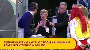 Terelu Campos en el momento de su abandono definitivo de Sálvame