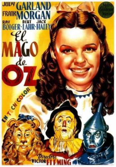 Cartel de la película original El Mago de Oz, dirigida por Victor Fleming