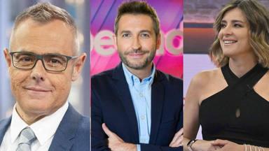 Jordi González, Frank Blanco y Sandra Barneda