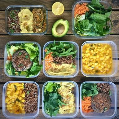 Hidratos de carbono, legumbres y verduras para el batch cooking