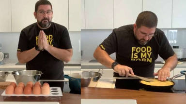 Dani García hace la tortilla de patatas perfecta