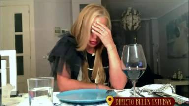 La última cena: Belén Esteban pillada en directo