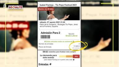 Imagen del precio desorbitado por una entrada para ver a Isabel Pantoja en concierto en Jerez de la Frontera
