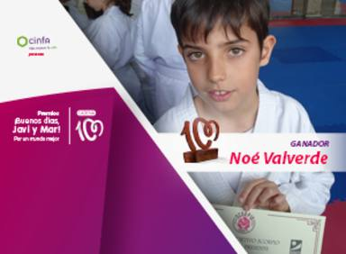 Noé Valverde, premio ¡Buenos días, Javi y Mar! Por un mundo mejor