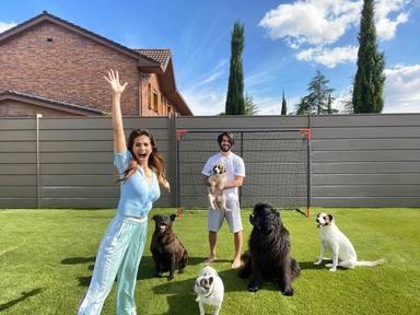 Sara Sálamo e Isco Alarcón con sus perros
