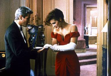 Richard Gere y Julia Roberts en Pretty Woman