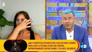 Anabel Pantoja rompe a llorar tras la regañina de Jorge Javier en Sálvame