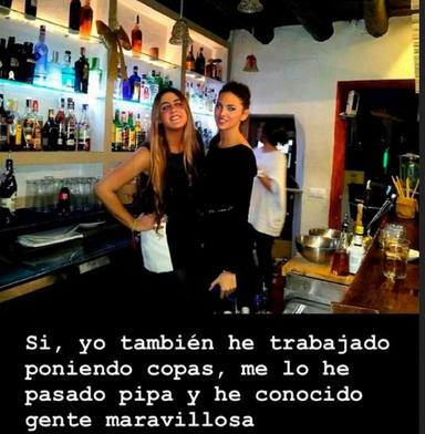 Irene Rosales desvela que estuvo trabajando como camarera