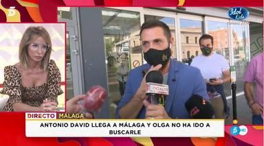 Antonio David vuelve en metro a casa sin su mujer Olga Moreno
