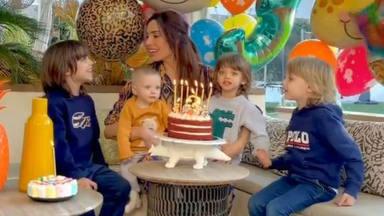 Pilar Rubio y Sergio Ramos tercer cumpleaños de su hijo Alejandro