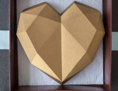 Corazón de chocolate para San Valentín