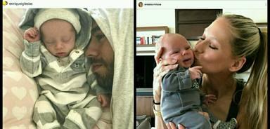 Enrique Iglesias publica otra foto ejerciendo de papá.