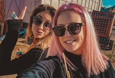 María Peláe y Alba Reig, de Sweet California