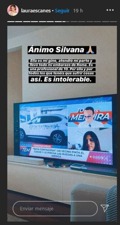 Laura Escanes sale en defensa de los sanitarios