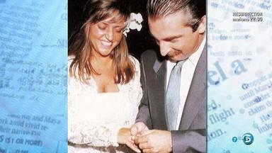 Lydia Lozano y Charly el día de su boda en el año 1990