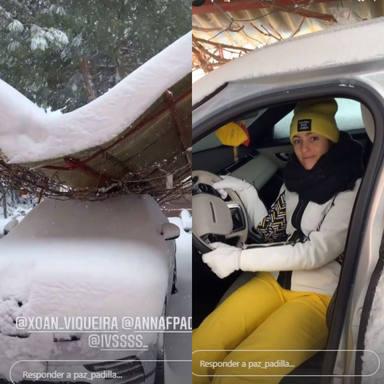 El coche de Paz Padilla sufre desperfectos por la nieve