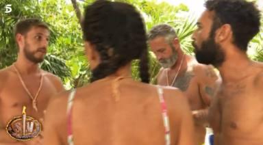 Alta tensión en Supervivientes entre Tom Brusse y Omar Sánchez: A mí no me levantes la mano