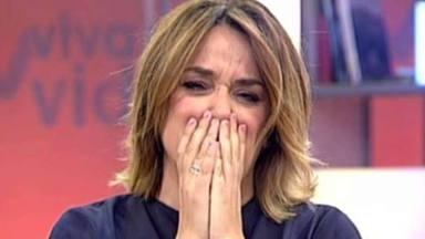 Toñi Moreno, víctima de un bulo con la salud de María Teresa Campos, abandona llorando el plató de televisión