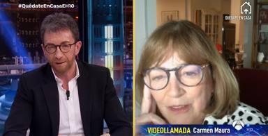 """El desánimo de Carmen Maura en 'El Hormiguero': """"Los mayores seremos los últimos en salir"""""""