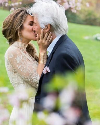 Las fotos de la boda de Richard Gere y su mujer Alejandra