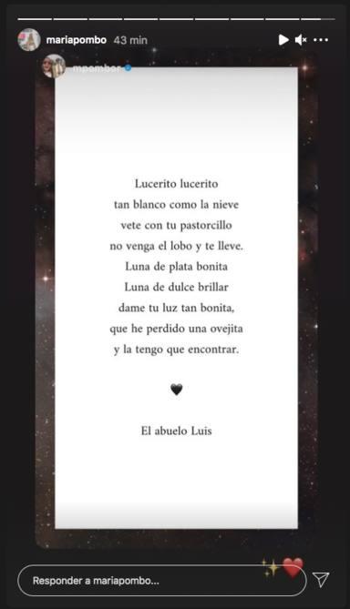 Marta Pombo publica un poema como gesto hacia su abuelo
