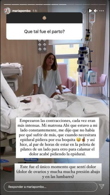 María Pombo cuenta cómo fueron los dolores del parto