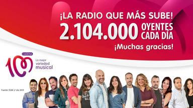 CADENA 100, la radio musical que más crece en España
