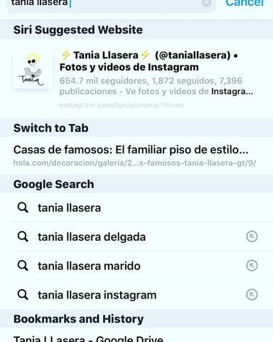 Tania Llasera muestra las sugerencias de Google