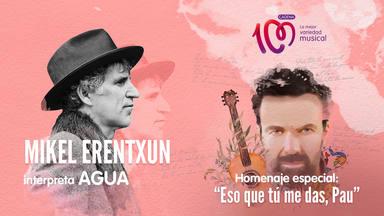 Mikel Erentxun interpreta 'Agua' en el tributo a Pau Donés 'Eso que tú me das, Pau'