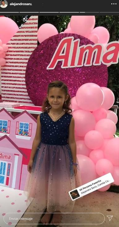 Alma, la hija de Alejandro Sanz, cumple 6 años