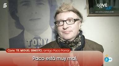 Paco Porras vive en la calle y está desaparecido
