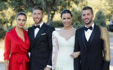 Pilar Rubio y Vania Millán juntas en la boda